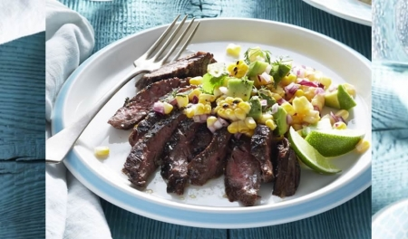 Grilled Skirt Steak with Avocado Salad
